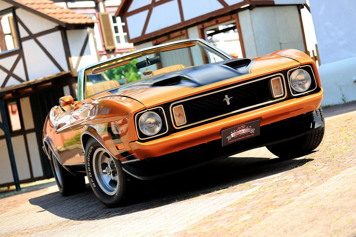ford mustang cabrio 1973 bronze nr classic car. Black Bedroom Furniture Sets. Home Design Ideas