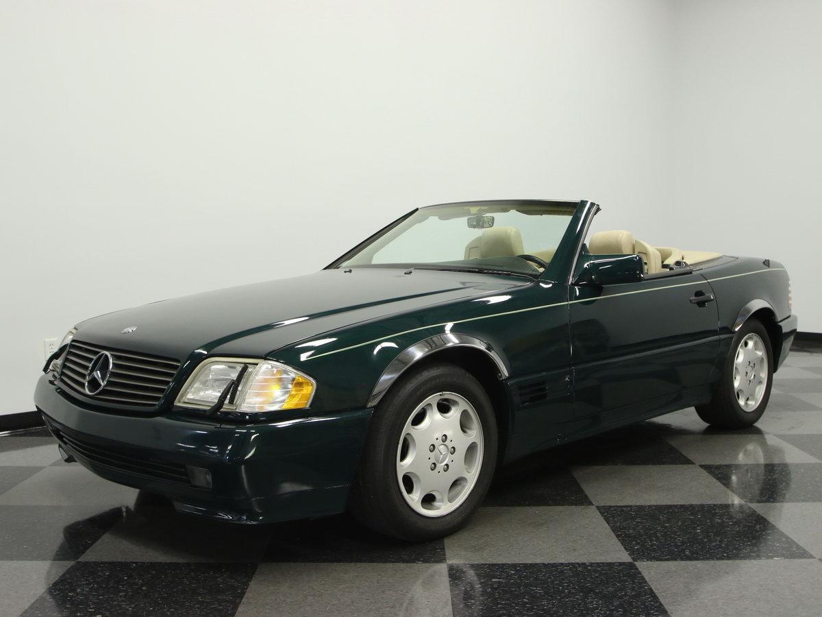 mercedes benz sl 500 1995 gr n metallic nr classic car. Black Bedroom Furniture Sets. Home Design Ideas