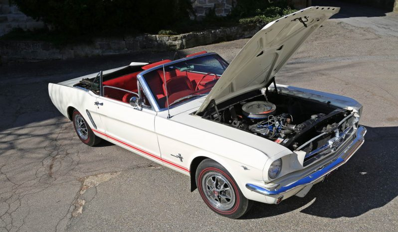 Ford Mustang 289 V8 Cabrio 1965 weiß voll
