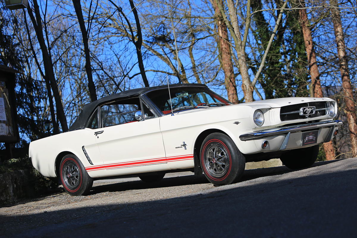 ford mustang 289 v8 cabrio 1965 wei nr classic car. Black Bedroom Furniture Sets. Home Design Ideas
