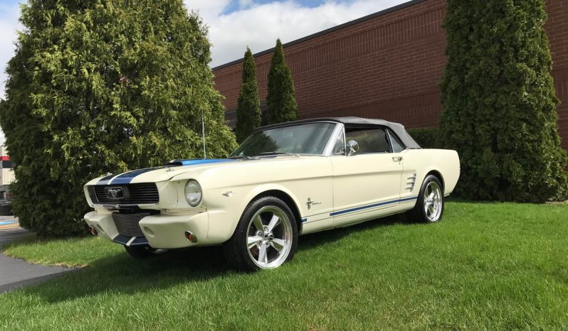 Ford Mustang Cabrio 1966 weiß Shelby/Bullit Optik voll
