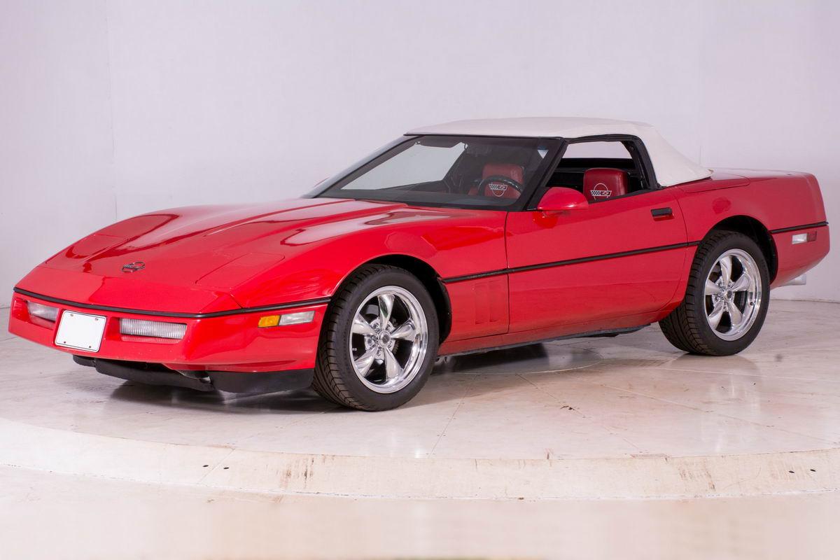 chevrolet corvette c4 1986 hellrot nr classic car collection stuttgart. Black Bedroom Furniture Sets. Home Design Ideas