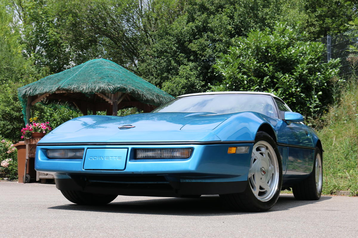 chevrolet corvette c4 1989 hellblau nr classic car. Black Bedroom Furniture Sets. Home Design Ideas