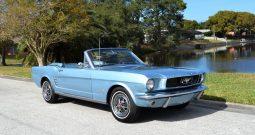 Ford Mustang Cabrio BJ 1966 Rally Pac Blau
