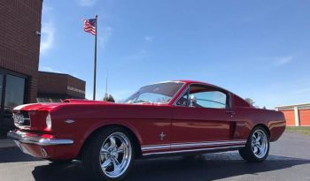 Ford Mustang Fastback 289 BJ 1965 rot/weiss voll