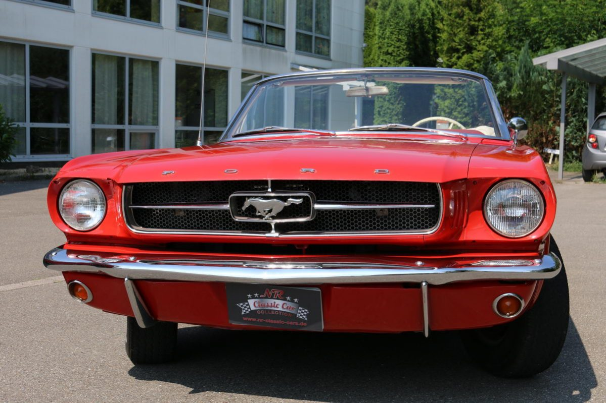 Ford Mustang Cabrio Bj 1965 Aussen Rot Innen Beige Nr Classic
