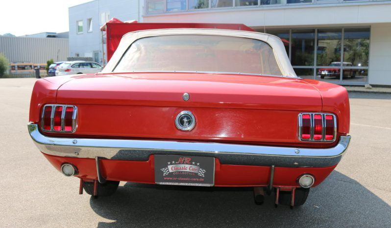Ford Mustang Cabrio BJ 1965 aussen Rot innen Beige voll