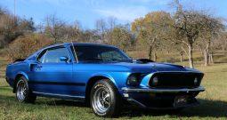 Ford Mustang Mach 1 Baujahr 1969 Blau-Schwarz