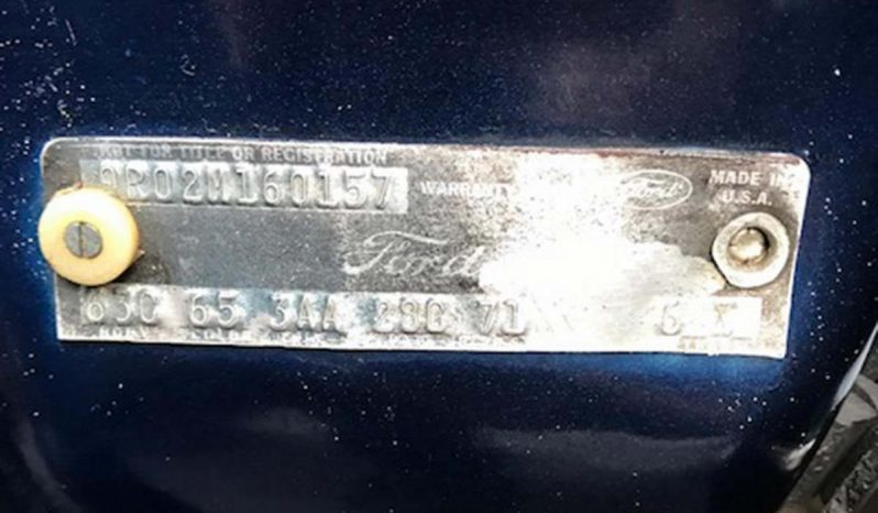 Ford Mustang Mach 1 Baujahr 1969 Blau-Schwarz voll