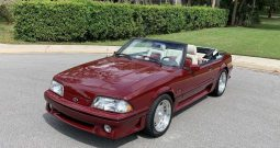 1989 Ford Mustang GT Cabrio Dunkelrot