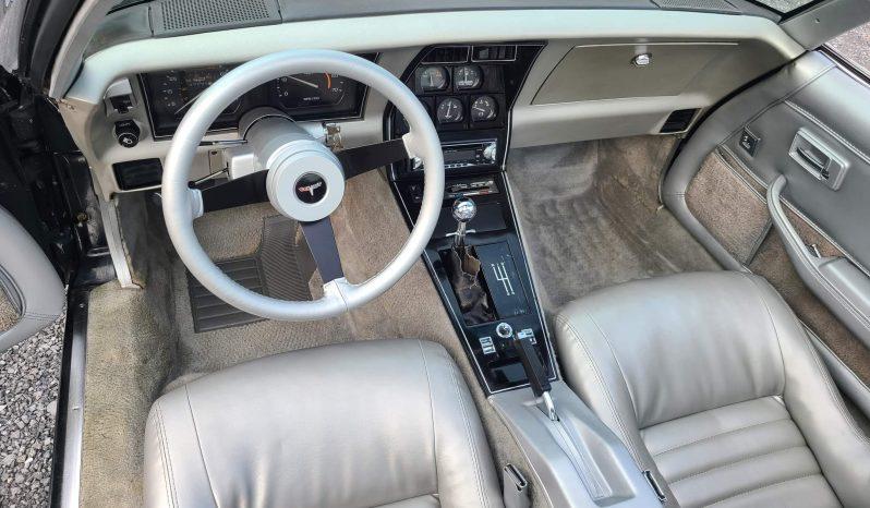 Chevrolet Corvette C3 BJ 1981 Schwarz/Silber voll